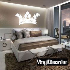 Crown Wall Decal - Vinyl Decal - Car Decal - AL034