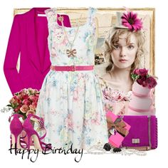 Happy Birthday My Lovely Agathalizz (Bday Jan 28) by fitriarafiati on Polyvore featuring polyvore, fashion, style, Vanessa Bruno, Emilio Pucci, Betsey Johnson, Forever 21, Pristine, Jimmy Choo and clothing