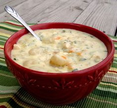 "Creamy Chicken Gnocchi Soup -- incredibly delicious, easy to make. I used ""mini gnocchi"" and they were perfect for this soup. Crockpot Recipes, Soup Recipes, Chicken Recipes, Cooking Recipes, Recipies, Water Recipes, Recipe Chicken, Drink Recipes, Bread Recipes"