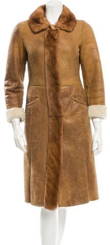 Prada Fur-Trimmed Long Coat