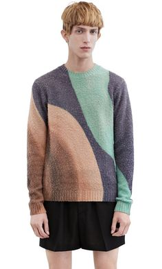 Acne Studios Peele surf delica printed cashmere blend sweater #AcneStudios #menswear #SS16