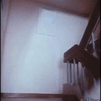 Memefrontier.com is showing off an amusing image | Animated GIF's | Midget Kung Fu Elvis Kicking Butt On The Stairs