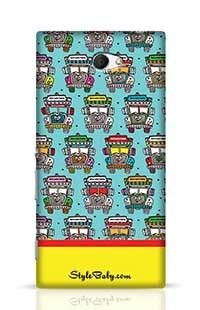 India Road Colorful Truck Sony Xperia M2 Phone Case