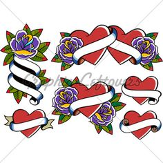 Style Tattoo Flower Traditional Tattoo Ribbon, Swallow Tattoo Design, Tattoo Ideas, Tattoo Designs, Flower Images, Flower Tattoos, New Art, Decoration, Party