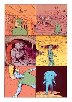Page from CARE, minus the lettering, by me and Matt Sheean. Originally a backup story in an issue of Prophet. Animation Reference, Art Reference, Comic Layout, Graphic Novel Art, Comic Panels, Comic Movies, Fun Comics, Illustrations And Posters, Manga