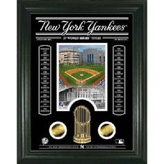 New York Yankees 27 World Series Titles Etched Glass