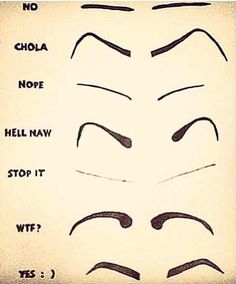 I remember seeing grls w/these eyebrows wen i was in skwl..n id thnk to myself wth?
