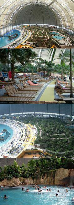 Artificial tropical paradise