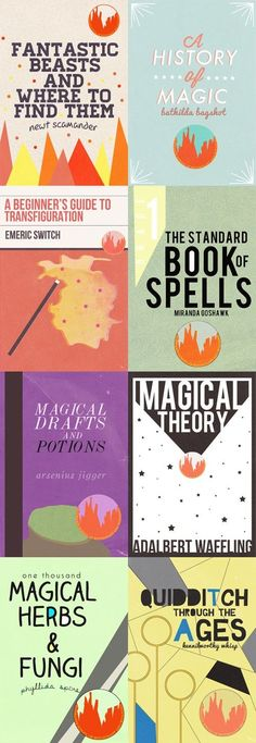 Hogwarts text book covers
