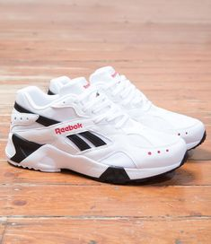 Reebok Aztrek  White Black Sneaker Boutique 423c3789b