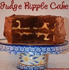 Fudge Ripple Cake