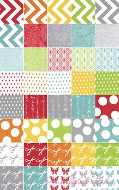 half moon modern Moda charm pack from pink chalk fabrics