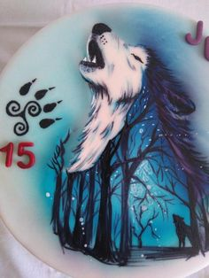 Hand painted cake by Blacksun