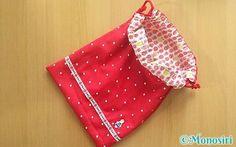 リバーシブル巾着袋の作り方0