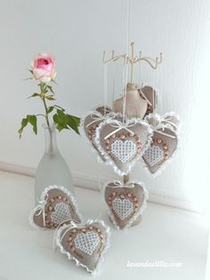 Lavender Shabby Chic Heart - nice idea