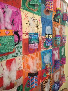 3 d hot chocolate artwork for classroom Winter Art Projects, School Art Projects, Kindergarten Art, Preschool Art, Preschool Learning, Art 2nd Grade, Programme D'art, Arte Elemental, Classe D'art