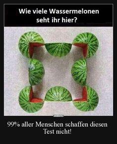 Wie viele Wassermelonen steht ihr hier? | Lustige Bilder, Sprüche, Witze, echt lustig