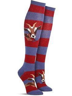 Funny Novelty Hungry Goat Knee High Socks for Women
