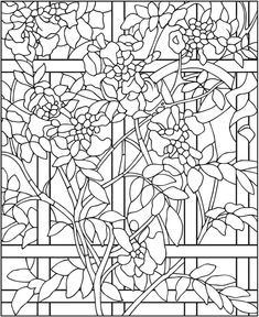 73 Best Stained Glass Coloring Pages For Adults Images Stained