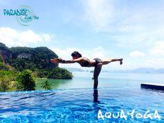 Aqua Yoga Pose, Yoga pose thailand, koh yao yoga, aquayoga, paradise koh yao, paradise @ koh yao