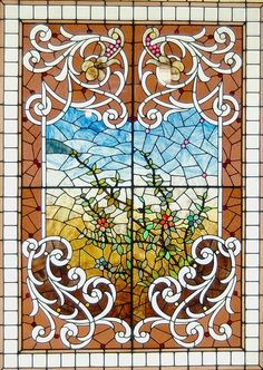Stained glass window from the Smith Museum of Stained Glass at Navy Pier in Chicago, Illinois. Stained Glass Flowers, Stained Glass Designs, Stained Glass Panels, Stained Glass Patterns, Leaded Glass, Stained Glass Art, Beveled Glass, Mosaic Art, Mosaic Glass
