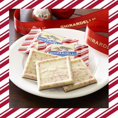 Add a festive touch to your holiday table. Ghirardelli #PeppermintBark chocolates are a delightful treat!