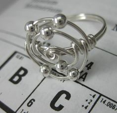 I do enjoy unique, modern jewelery, and I found a very wonderful store while browsing Etsy for some new rings. Holmescraft showcases a wide. Wire Rings, Wire Wrapped Rings, Wire Jewelry, Beaded Jewelry, Jewelry Rings, Jewelery, Handmade Jewelry, Diy Jewelry Inspiration, Jewelry Ideas