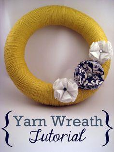 Simple Yarn Wreath Tutorial