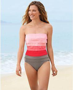Magicsuit® Leah Bandeau One-Piece Swimsuit | Eddie Bauer