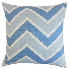 The Pillow Collection Hoku Zigzag Linen Throw Pillow Cover Color: Indigo Blue Pillows, Floor Pillows, Cotton Pillow, Throw Pillow Sets, Outdoor Throw Pillows, Designer Throw Pillows, Decorative Pillows, Indigo, Ebay