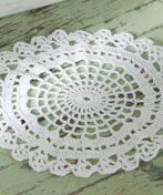 Spider Web Doily pattern - easy to adjust to peaches & cream cotton