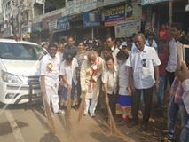 """Participated in """"Clean India-Green India"""" #SwachhBharatAabhiyan program organized by the New India Development Association (NIDA) at the Sadhana Para Medical College, Musheerabad Assembly Constituency, Hyderabad."""