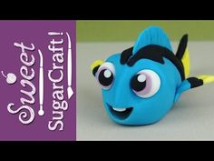 Finding Dory BABY DORY Cake Topper Tutorial (by SweetSugarCraft) - YouTube