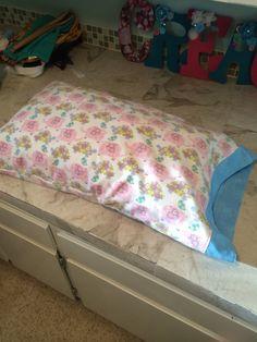 pillow and pillow case, made for granddaughter, Clara, spring 2014