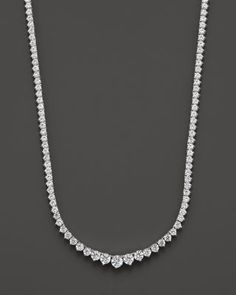Diamond Tennis Necklace in 14K White Gold, 10.0 ct. | Bloomingdale's
