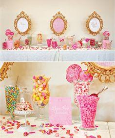 Dessert display - love the frames!