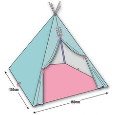 diy make wigwam teepee - Fabric Craft