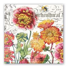 Blooms and Bees Luncheon Paper Napkins  $7.00 http://www.fancyflours.com/product/Blooms-and-Bees-Luncheon-Paper-Napkins/s