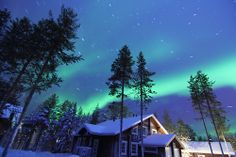 Northern Lights Startrail, Levi Finland, Lapland, Aurora Borealis, Astrophotography (by pelpa_666)