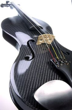 Luis and Clark black glossy carbon fiber viola string instrument. I want one!!