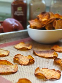 Baked BBQ Sweet Potato Chips - The Sweet Life