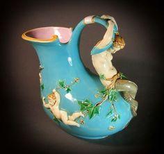 The Mermaid wine jug, design based on a Pompeiian shape, 1860-80, The Dictionary of Minton, Atterbury and Batkin, p. 243