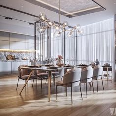 Luxury Dining room with Marble accents Luxury Dining Room, Dining Room Design, Modern Dining Room Lighting, Private Dining Room, Modern Lighting, Dining Rooms, Lighting Design, Dining Table, Dining Room Inspiration