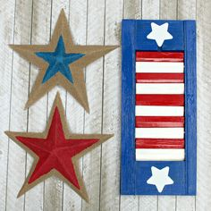 July 4th Decor: Patriotic Painted Shutters | Happy Crafting | Blitsy