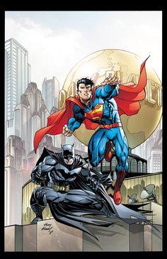 Superman and Batman by Andy Kubert *