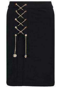 Versace Jeans Bleistiftrock nero Premium bei Zalando.de | Material Oberstoff: 35% Baumwolle, 35% Modal, 28% Polyamid, 2% Elasthan | Premium jetzt versandkostenfrei bei Zalando.de bestellen!