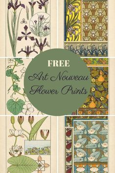 art nouveau A beautiful collection of copy right f - Fleurs Art Nouveau, Motifs Art Nouveau, Art Nouveau Flowers, Art Nouveau Pattern, Botanical Drawings, Botanical Prints, Art Floral, Flower Prints, Flower Art