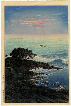 HASUI - Japanese Woodblock Print CAPE INUBO