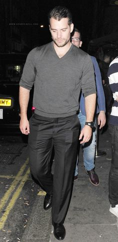 Henry Cavill spends his night out in London