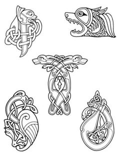 Картинки по запросу кельтский орнамент животные